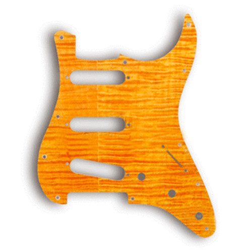 Flame Maple Veneer / SSS AM Strat 11 screws