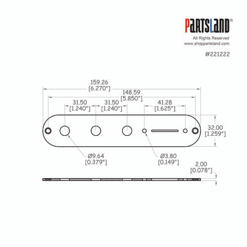 Telecaster®Control Plate 3 Hole