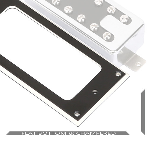 Flat Chamfered Humbucker Mounting Ring / MTV