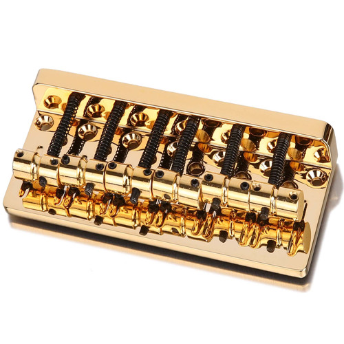 Thick Solid Brass Plate 6-string Bass Bridge