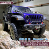 3-Piece Rubicon Front Bumper for SCX10 III Jeep JL Wrangler / JT Gladiator ( Red Tow Hook )