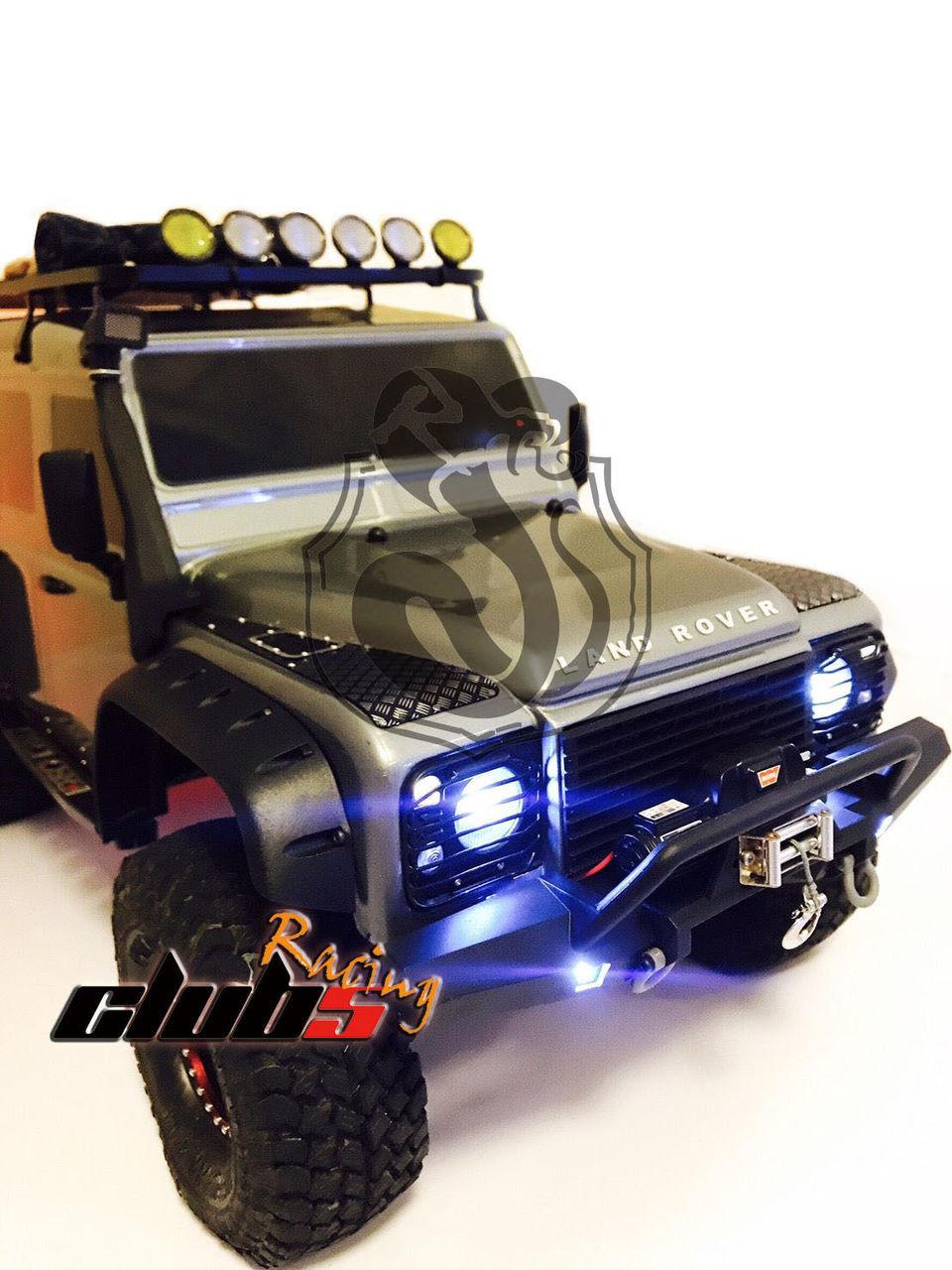 Front / Rear Bumper LED w/ Light Bucket for Traxxas TRX-4