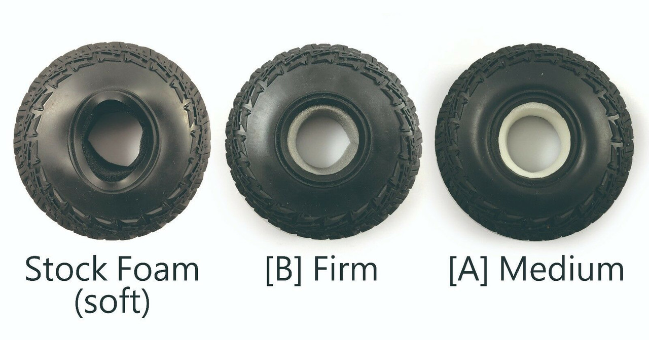 "1/10 Scale 1.9"" Crawler Tire Single Stage Foam ( 2 pcs 120 x 40 mm Medium )"
