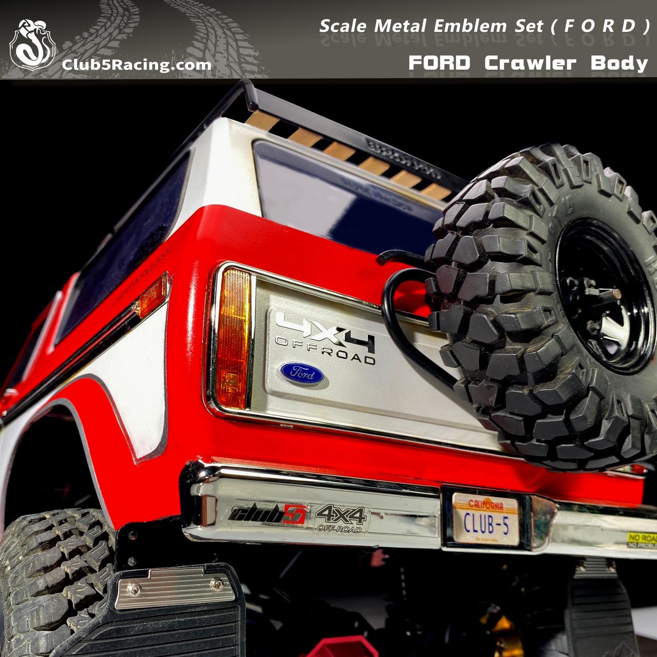 Scale Metal Emblem Set ( F O R D ) for FORD Crawler Body
