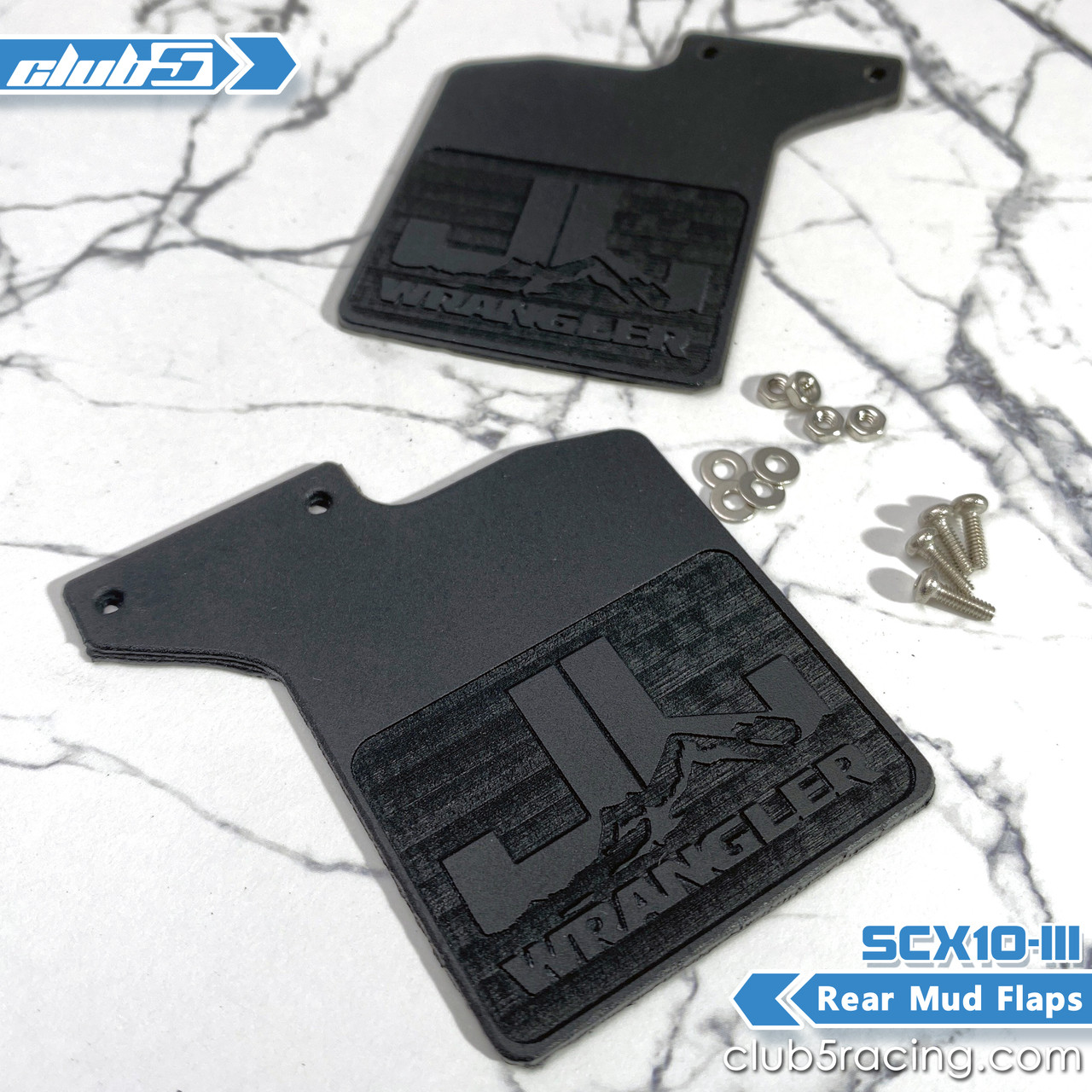 Rear Mud Flaps for SCX10 III Jeep JL Wrangler (A)