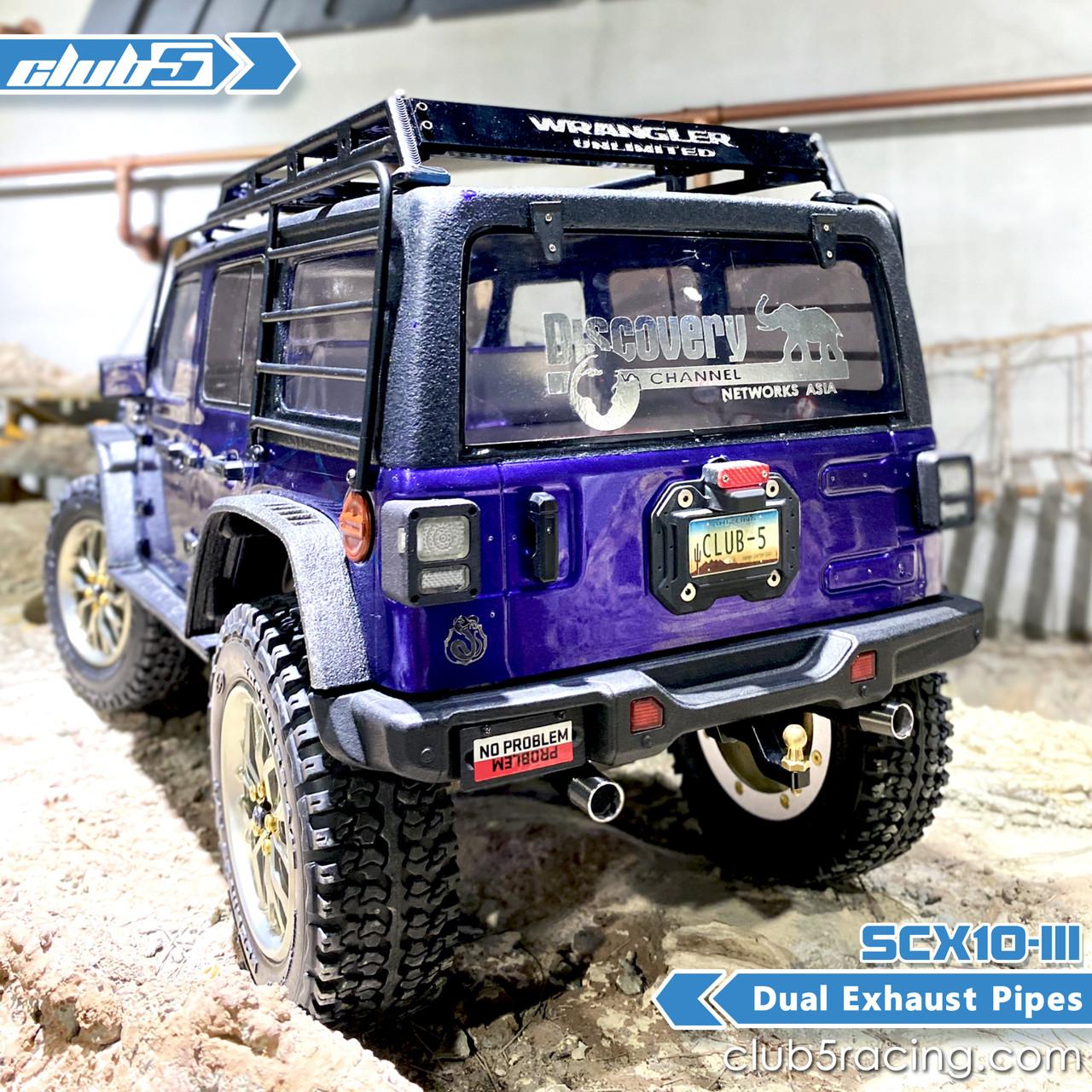 Dual Performance Exhaust for SCX10 III Jeep JL Wrangler