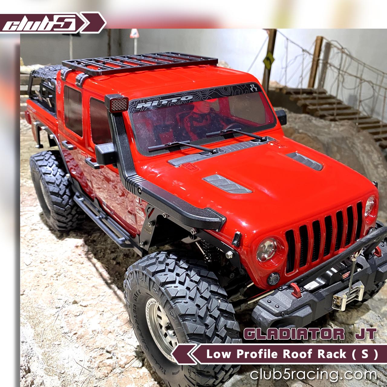 Low Profile Roof Rack for SCX10 III Jeep JL Wrangler / JT Gladiator ( 3DP )