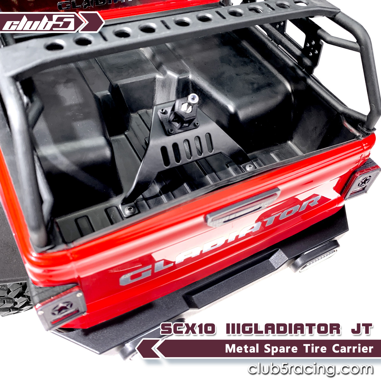 Metal Spare Tire Carrier for Axial SCX10 III JT Gladiator