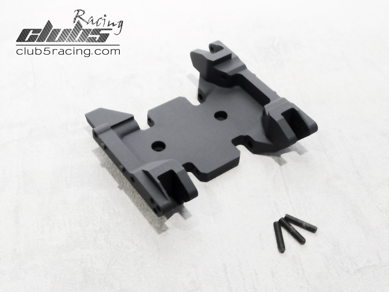 Lightweight and Fine Workship Center Skid Plate Aluminum Alloy Center Skid Plate Mount with Base Link Rod for Axial SCX10 1//10 RC Car