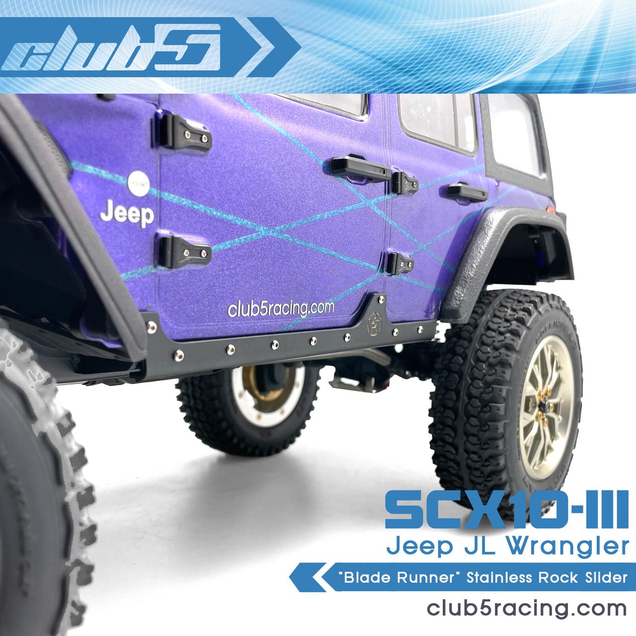 """Blade Runner"" Stainless Rock Slider for Axial SCX10 III Jeep JLU Wrangler"
