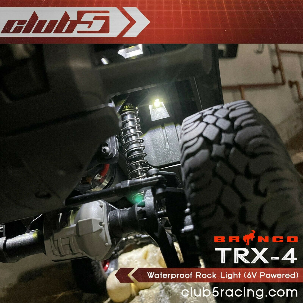 Waterproof Rock Light for TRX-4 2021 Bronco ( 6V Powered )