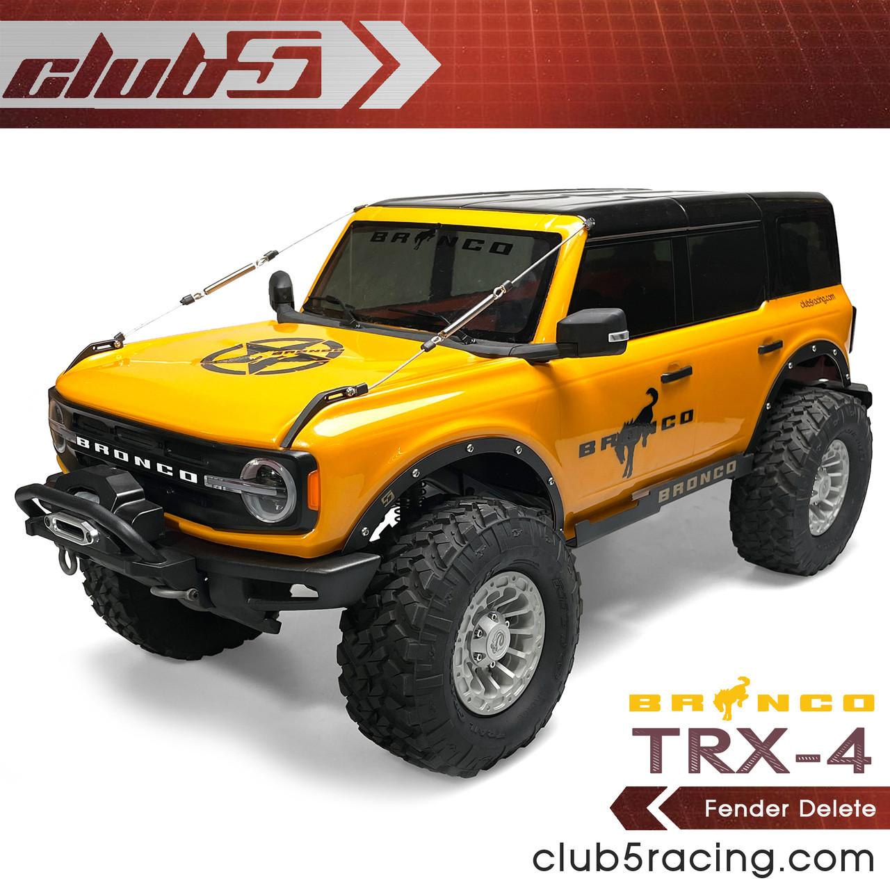 Fender Delete for Traxxas TRX-4 2021 Ford Bronco ( Black Powder Coated Steel)