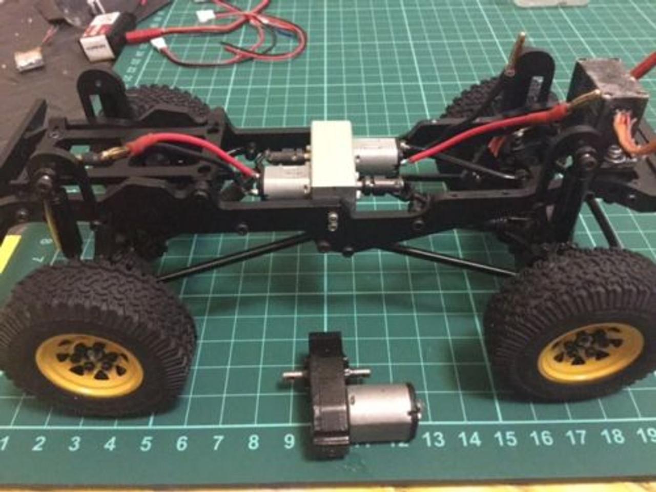 Dual / Twin Motor Mount Kit -- RC4WD 1/18 G2 D90 Body