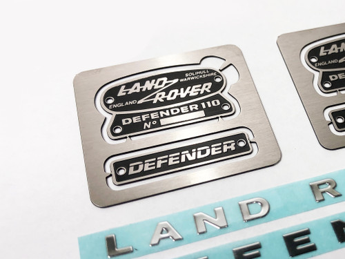Scale Metal Land Rover Emblem Set for TRX-4 Defender / RC4WD