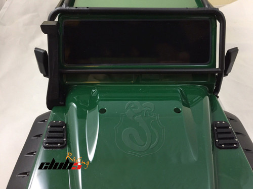 Black Hood Vent Louvre for TRX-4 Defender D110 Body