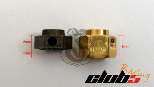 Brass Extended Wheel Hex Set +3 mm ( 4 ) for TRX-4