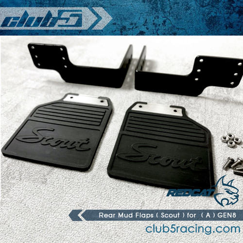 Rear Mud Flaps ( Scout ) for Vanquish VS4-10 Body ( A ) GEN8