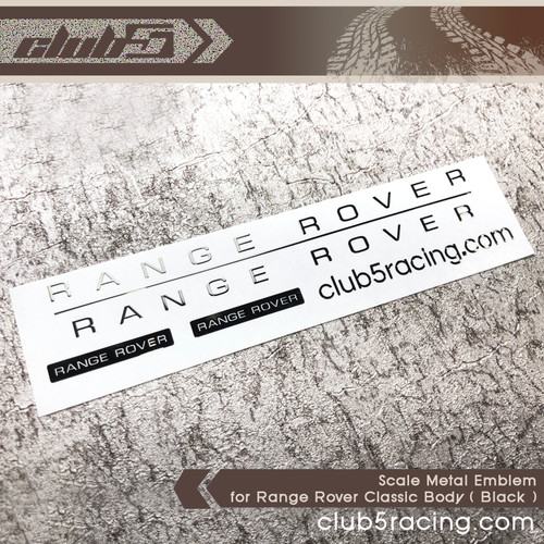 Scale Metal Emblem for Range Rover Classic Body ( Black )