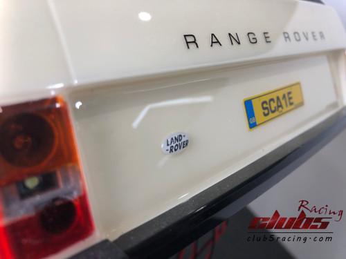 1/10 Land Rover Emblem For TRX-4 D110 / RANGE ROVER (WHITE)