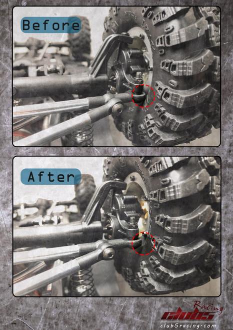 Brass Extended Wheel Hex Set 8 mm ( 4 ) for Redcat GEN8