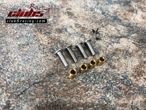 Brass Kingpin Bushings for Axial SCX10II AXI90075/AXI90104 Caster Blocks