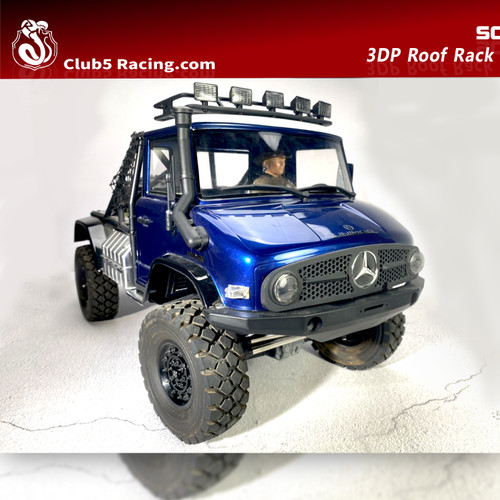 5 Spot Light Roof Rack for Axial UMG10 Unimog Body ( LED inlcuded, 6V )