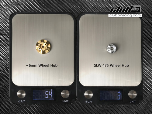 """Rhinohub"" +6mm Weighted Brass Wheel Hub ( 6 Lugs )"