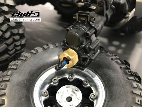 8mm Extended Brass Wheel Hex for TRX-6 G63 AMG 6x6 ( 6 pcs set )