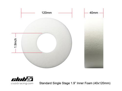 "1.9"" Single Stage High Density Foam Inserts ( 2 pcs 120 x 40 mm FIRM )"