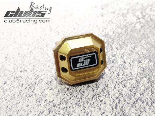 Brass Axle Cover for Element Enduro  / Sendero HD ( 2 pcs )