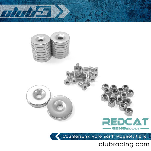 Countersunk Rare Earth Magnets for GEN8 Body Mount ( x 16 )