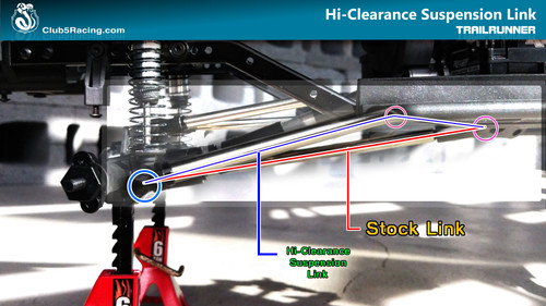 """Husky Link"" Hi-Clearance Suspension Links for Element Trailrunner ( Rear Only )"