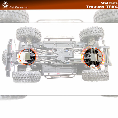 """Rhinoshield"" Stainless Steel Axle Skid Plate for Traxxas TRX-4 ( 2 pcs )"