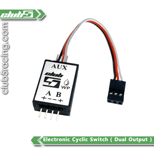 Electronic Cyclic Switch ( Dual Output ) for AUX Channel Lighting Control ( V2)