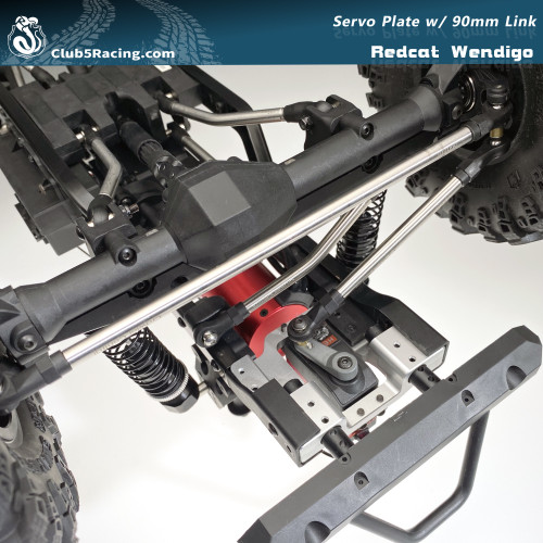 Aluminum Servo Relocation / Front Bumper Mount for Redcat Wendigo