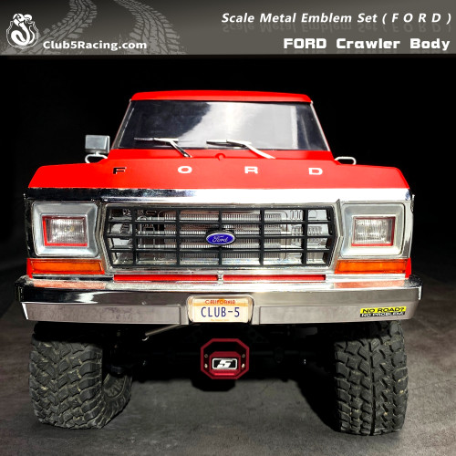 Scale Metal Emblem Set ( F O R D ) for FORD Crawler Body