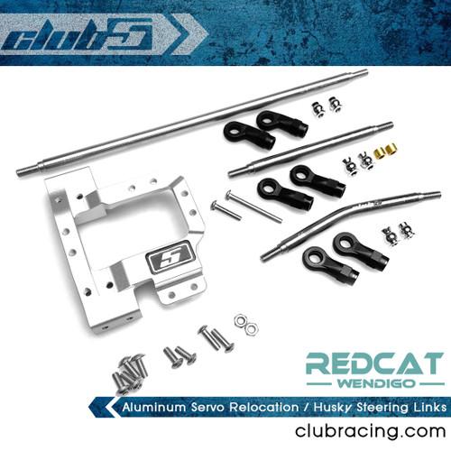 Aluminum Servo Relocation / Husky Steering Links for Redcat Wendigo