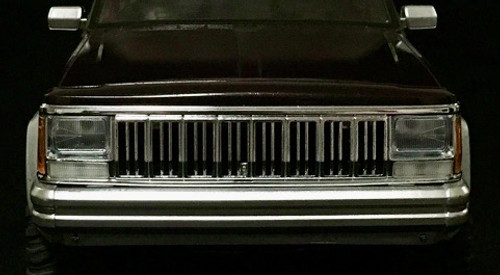 Chromed Front Grill for 1/10 Cherokee XJ Hard Plastic Body (313 mm)