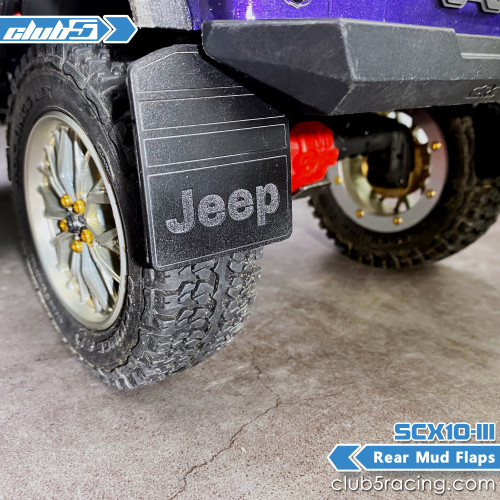 Rear Mud Flaps for SCX10 III Jeep JL Wrangler (B)