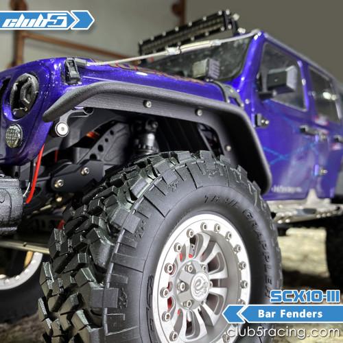 Bar Fender for SCX10 III Jeep JLU Wrangler ( 3D PA12 Nylon )