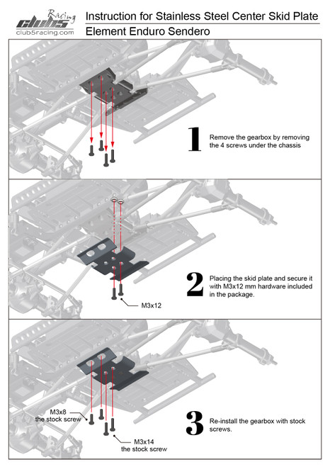 """Rhinoshield"" Stainless Steel Center Skid Plate For Enduro Gatekeeper / Sendero HD"