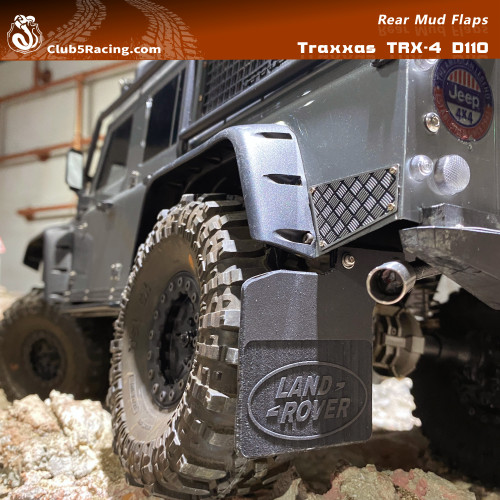Rear Mud Flaps (LAND ROVER) for Traxxas TRX-4 D110 Body