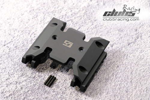 Aluminum Center Skid Plate for Axial SCX10 III, Jeep JL / JT