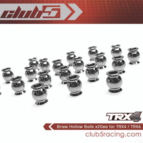 Brass Hollow Balls for Traxxas / Vaterra ( 20 pcs set )