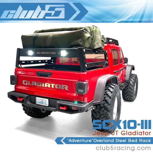 """""""Adventure"""" Overland Steel Bed Rack for SCX10 III Jeep JT"""