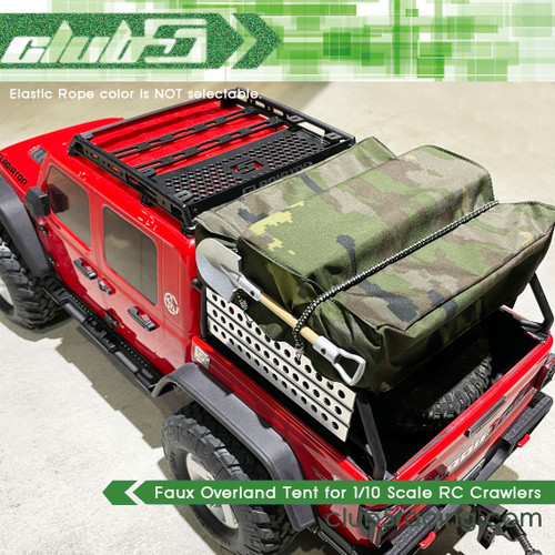 Faux Overland Tent for 1/10 Scale RC Crawlers (Camouflage)
