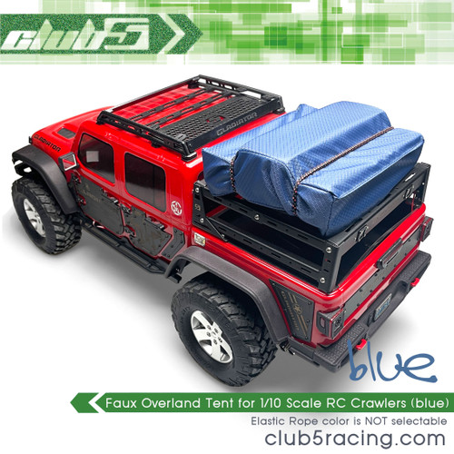Faux Overland Tent for 1/10 Scale RC Crawlers (Blue)