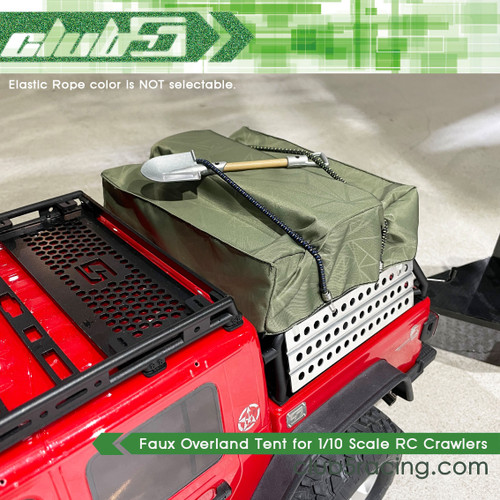 Faux Overland Tent for 1/10 Scale RC Crawlers (Green)
