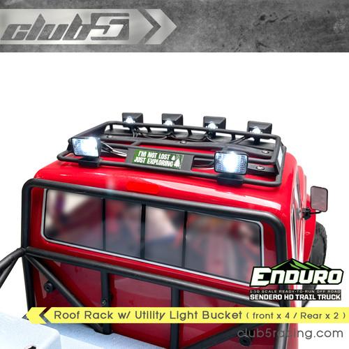 6 Spot Light Roof Rack for Enduro Sendero HD ( front x 4 / Rear x 2 )