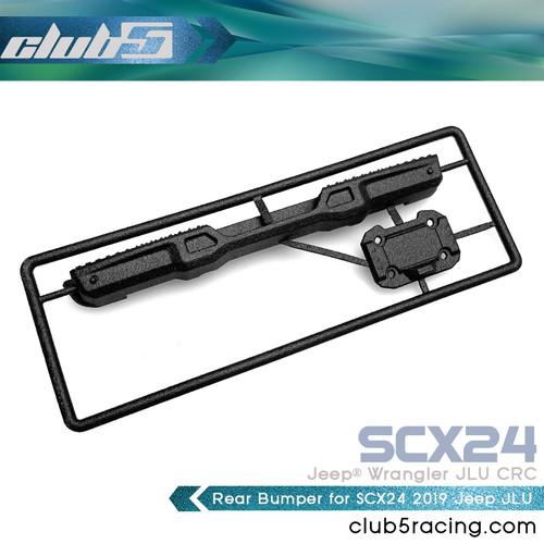 Rear Bumper w/ License Plate Frame for SCX24 2019 Jeep Wrangler JLU